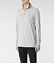 Sandringham Long Sleeved Polo 2, Men, Ramskull, AllSaints Spitalfields