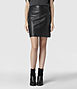 Lucille Leather Skirt 0, Women, Skirts, AllSaints Spitalfields