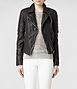 Walker Leather Biker Jacket 0, Women, Leather, AllSaints Spitalfields