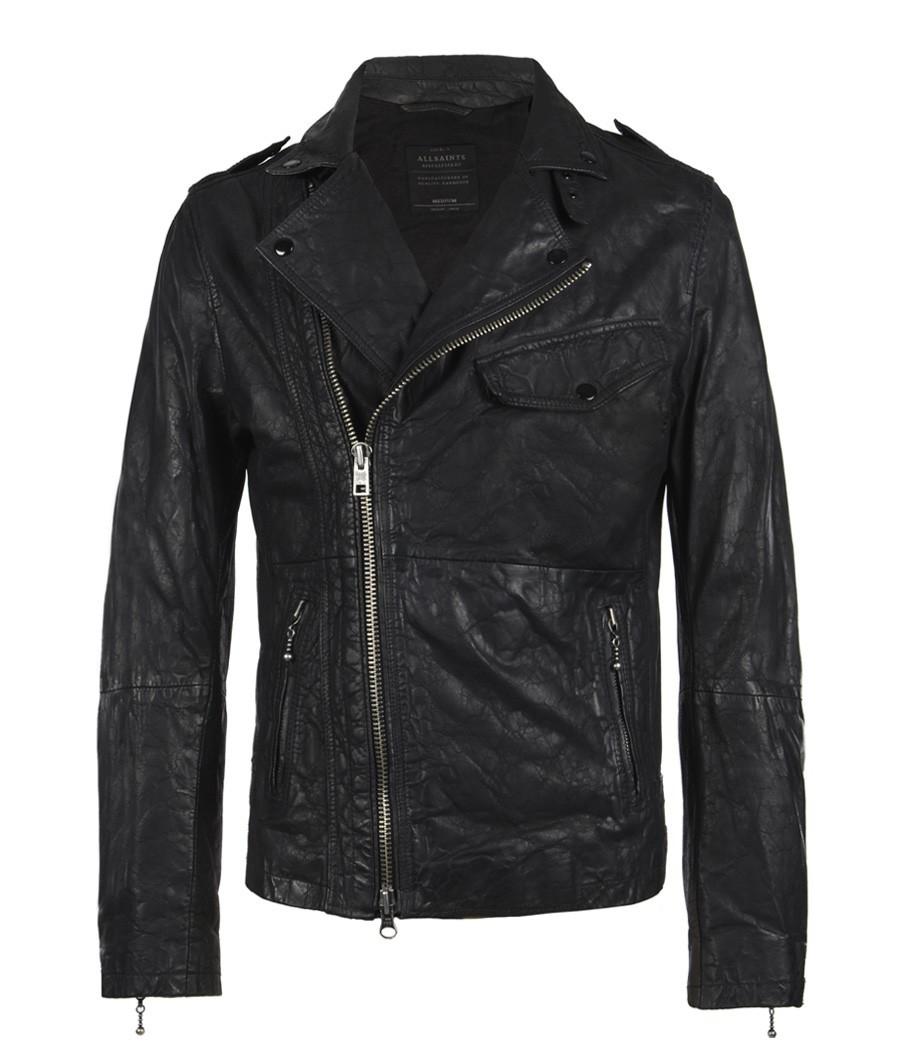 Standen Leather Jacket, Men, Leathers, AllSaints Spitalfields on
