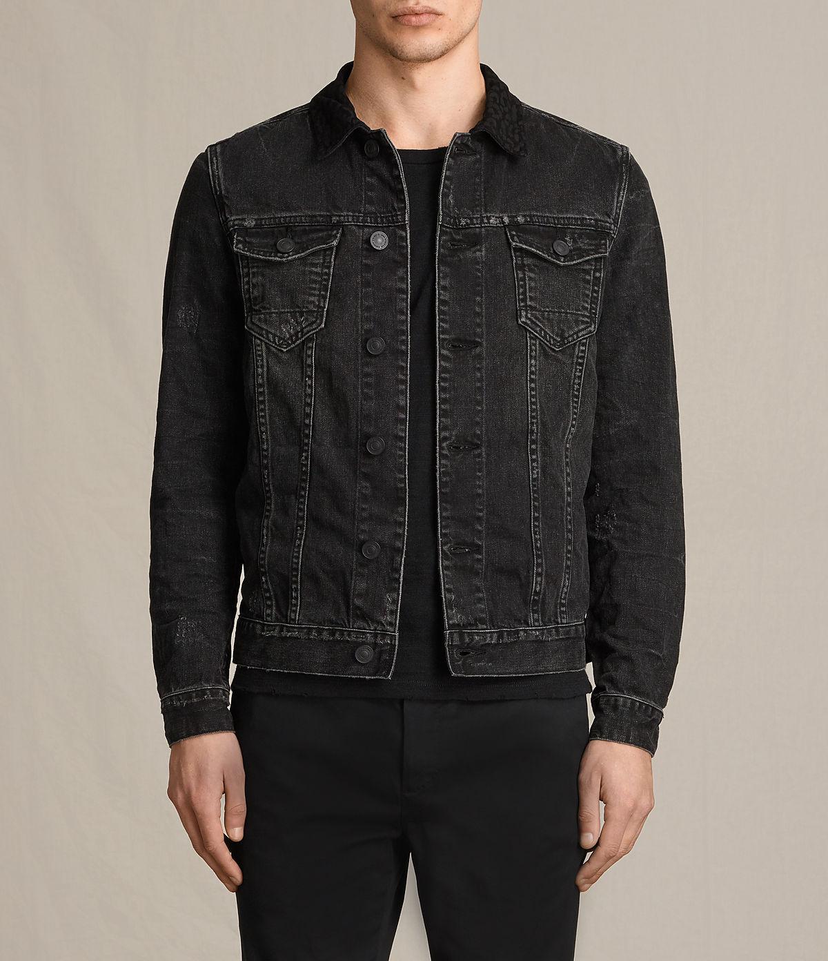 ALLSAINTS UK: Mens Donlington Denim Jacket (Black)