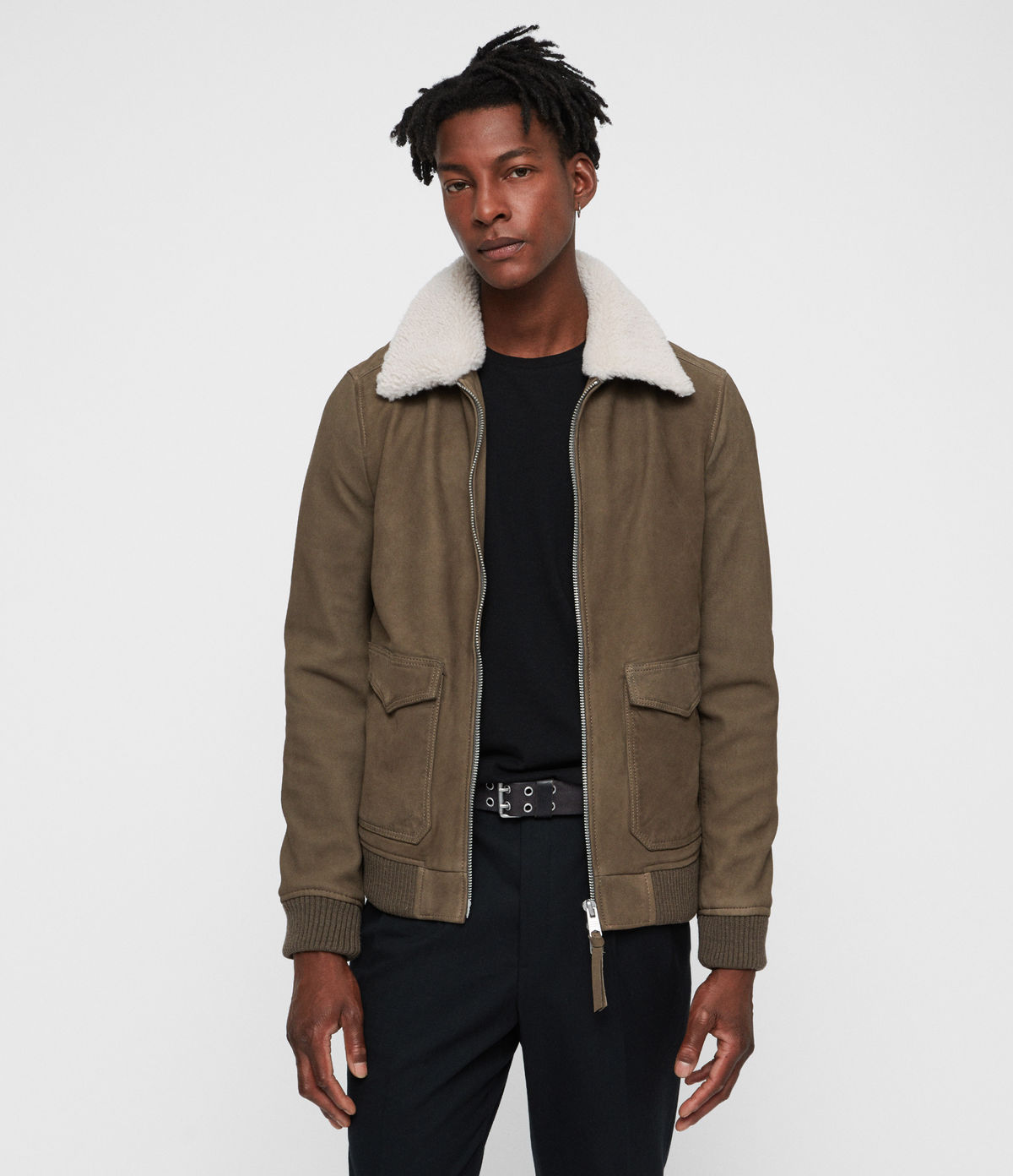 All Saints Aviator Coat