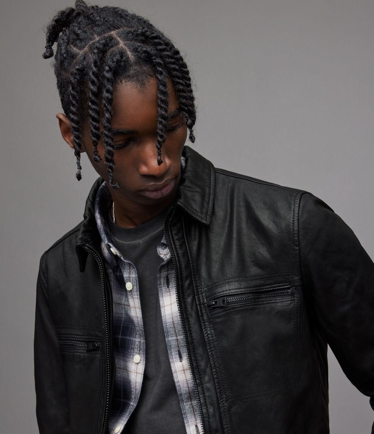 Leather jacket uk mens - Mens Designer Leather Jackets Uk Jacket