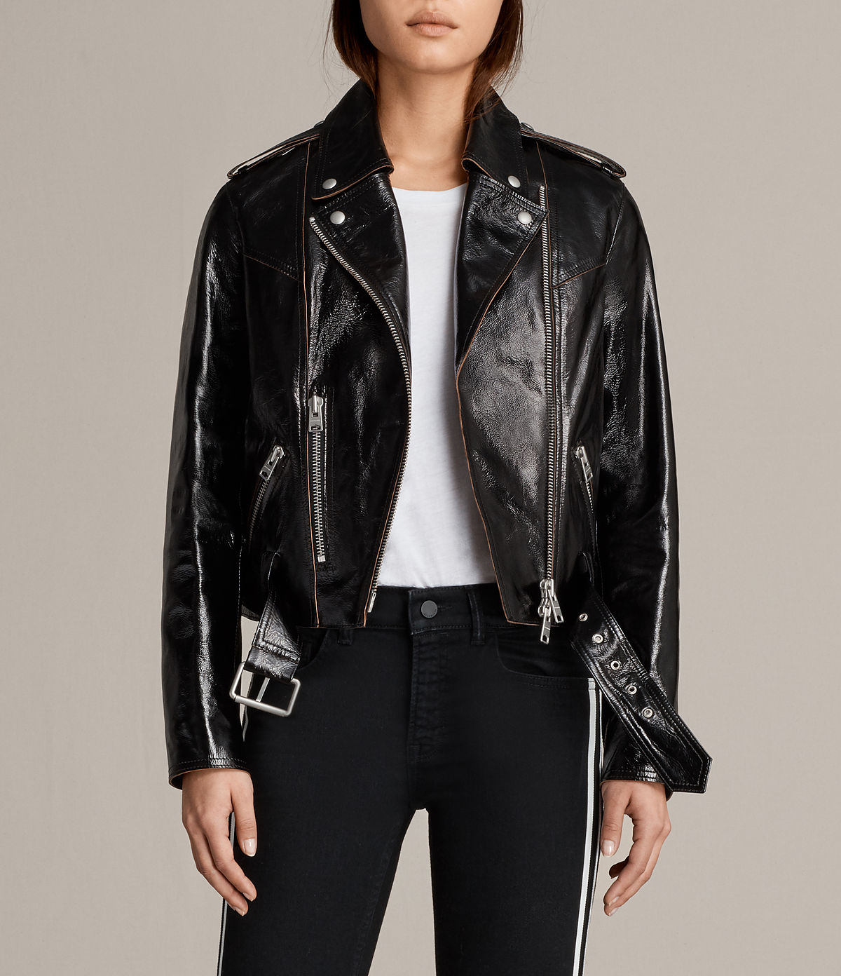 AllSaints Rigby Payton Leather Biker Jacket