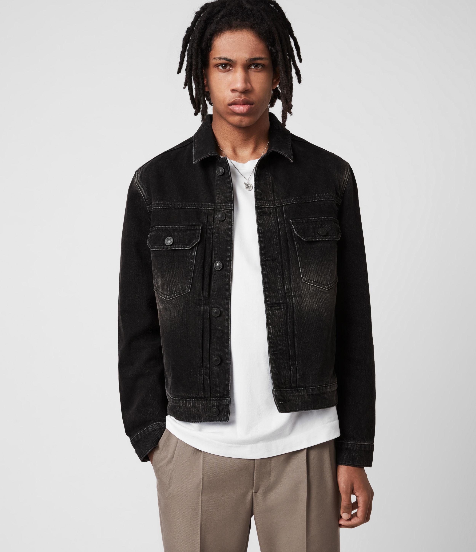 AllSaints Men's Bocana Denim Jacket, Black, Size: L