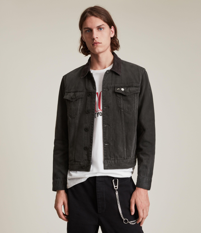 AllSaints Men's Ormside Denim Jacket, Washed Black, Size: XS
