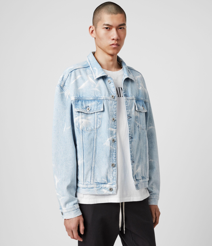 AllSaints Men's Cotton Denby Denim Jacket, Blue, Size: XS/S