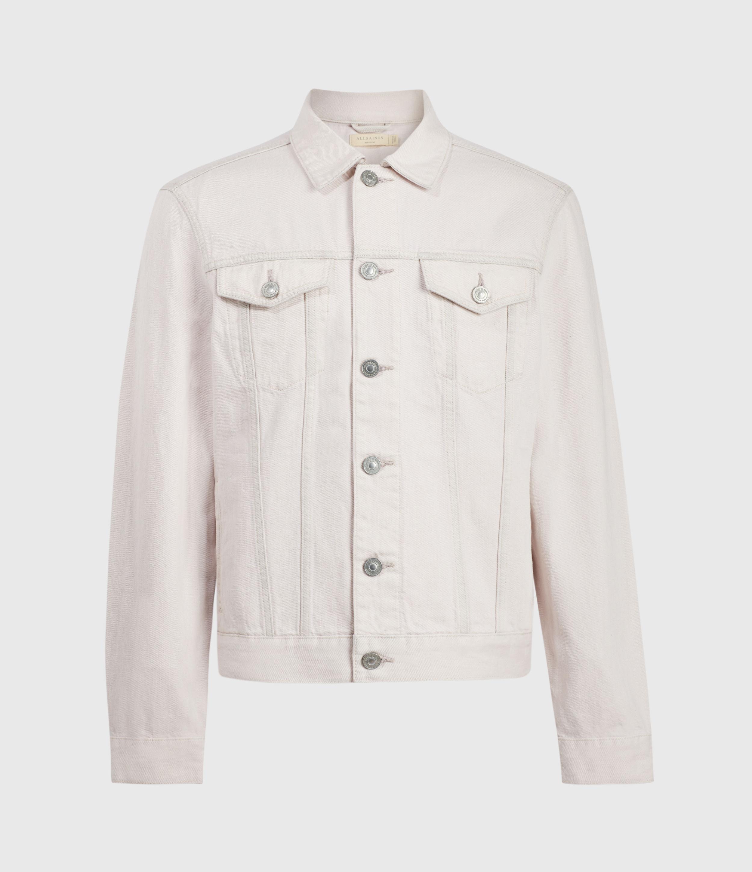 AllSaints Mens Jalna Denim Jacket, Overdye Pink, Size: S
