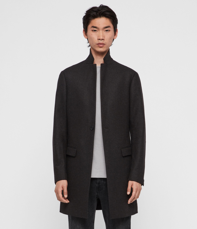 AllSaints Men's Wool Slim Fit Berkley Coat, Grey, Size: 36