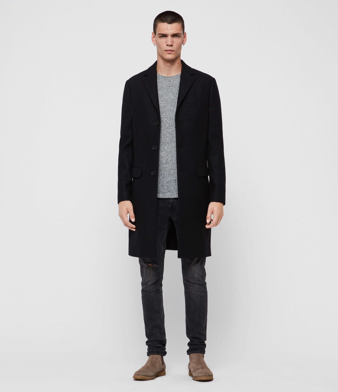 AllSaints Men's Chalcot Coat, Black, Size: 36