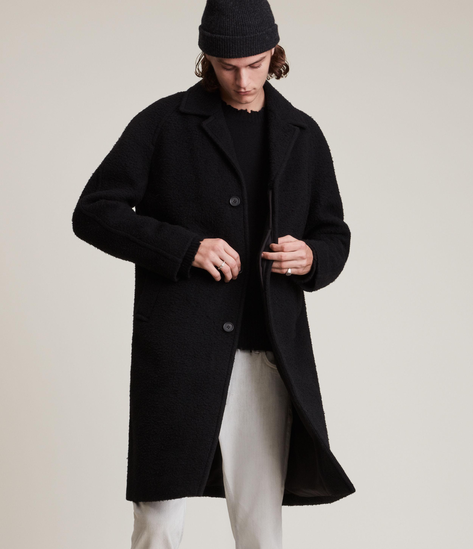 AllSaints Men's Derby Coat, Black, Size: 44