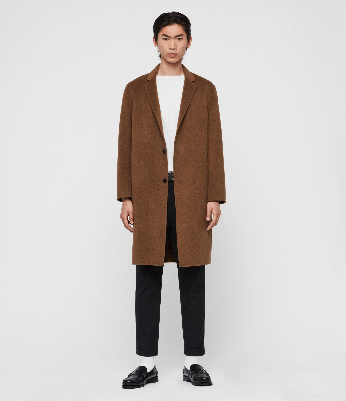 AllSaints Men's Hanson Coat, Brown, Size: L