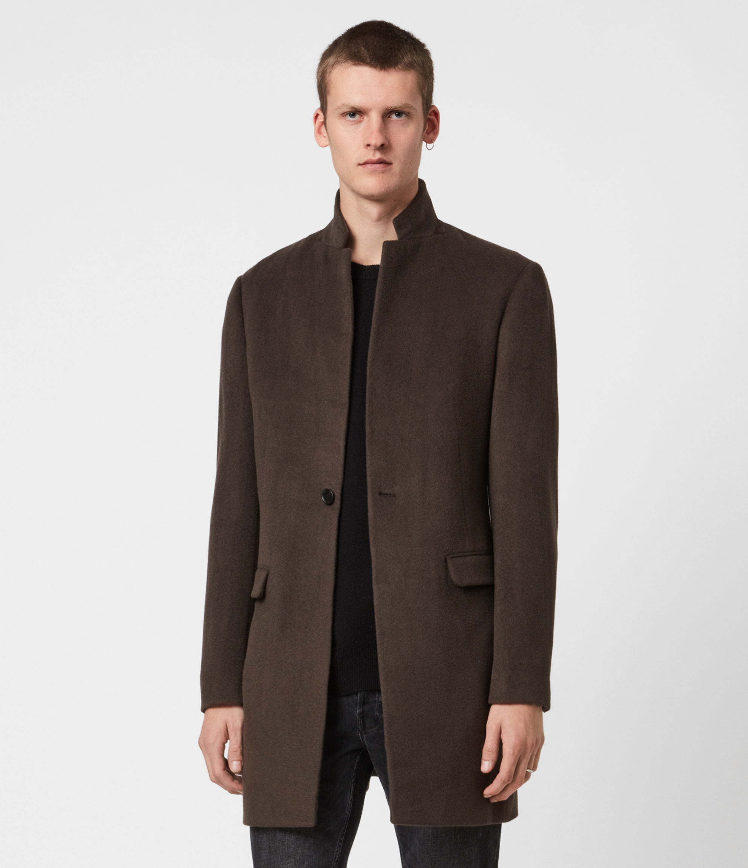 AllSaints Manor Wool Coat