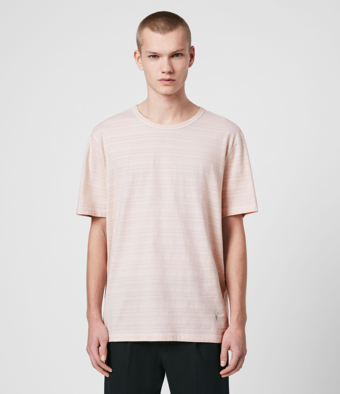 AllSaints Mens Aldwin Crew T-Shirt, Pink, Size: XXL