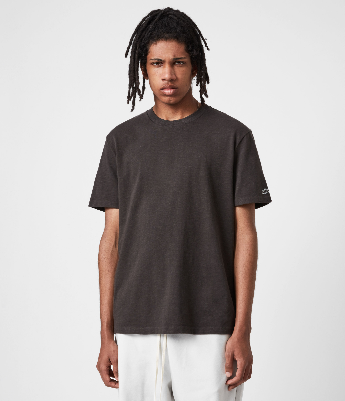 AllSaints Men's Seri Crew T-Shirt, Black, Size: L