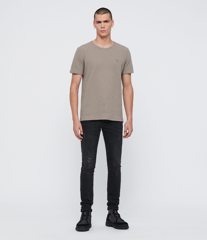 AllSaints Men's Cotton Regular Fit Muse Short Sleeve Crew T-Shirt, Grey, Size: XS