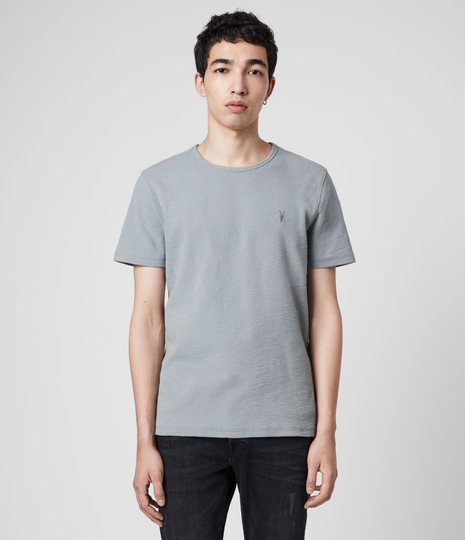 AllSaints Mens Muse Crew T-Shirt, Blue, Size: XS