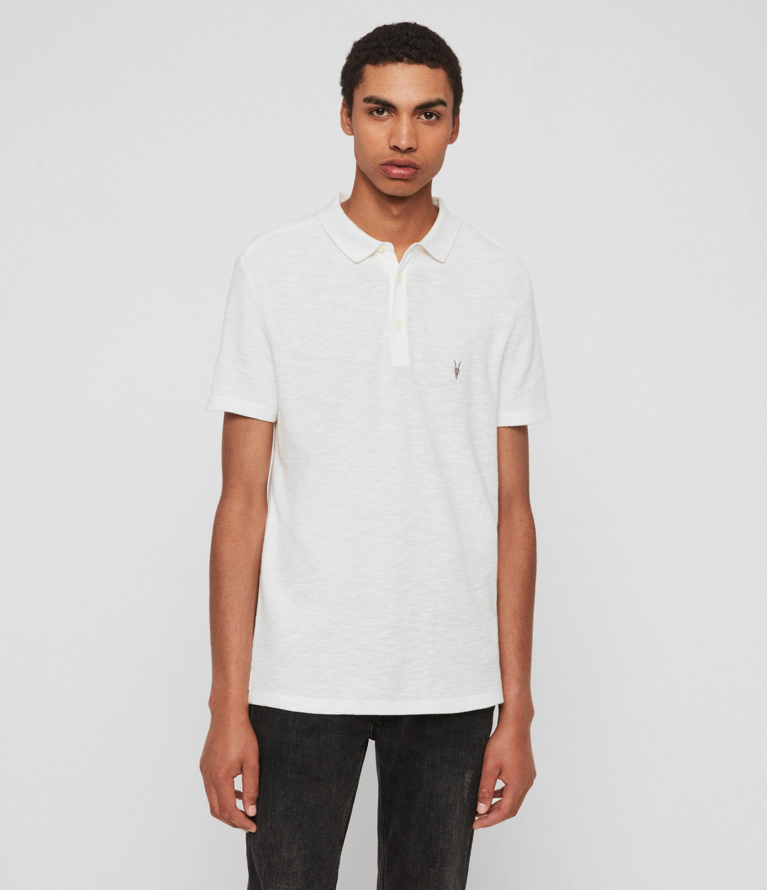 AllSaints Muse Short Sleeve Polo Shirt