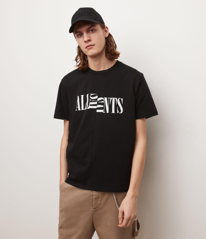 AllSaints Men's Nico Crew T-Shirt, Jet Black, Size: XXL