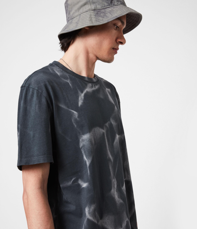 AllSaints Men's Cotton Relaxed Fit Cruz Crew T-Shirt, Black, Size: XL