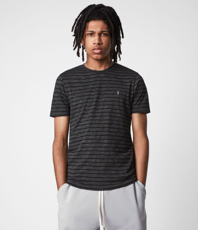 AllSaints Men's Daze Crew T-Shirt, Grey Marl, Size: S