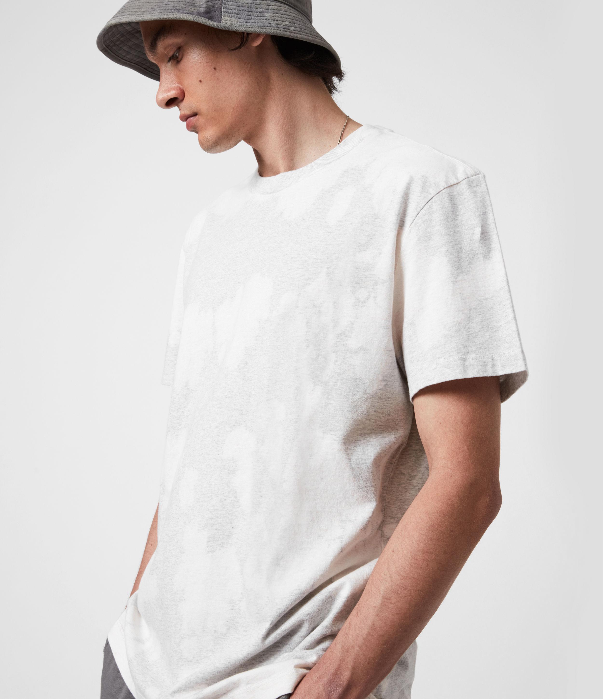 AllSaints Men's Phillips Crew T-Shirt, Light Grey Marl, Size: L