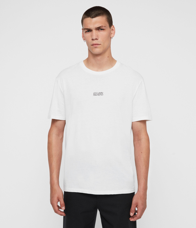 AllSaints Mens State Crew T-Shirt, White, Size: XS