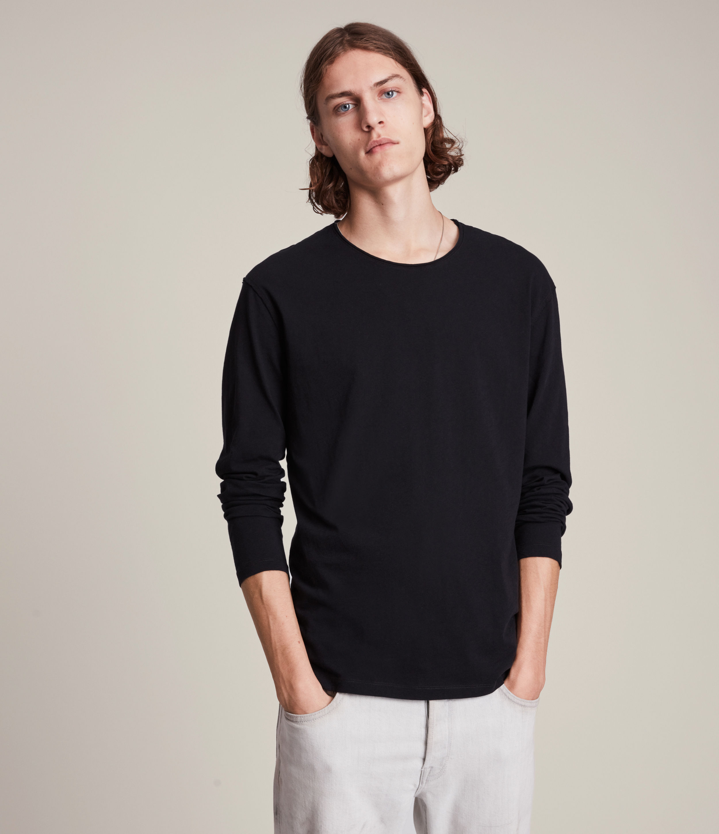 AllSaints Figure Long Sleeve Crew T-Shirt