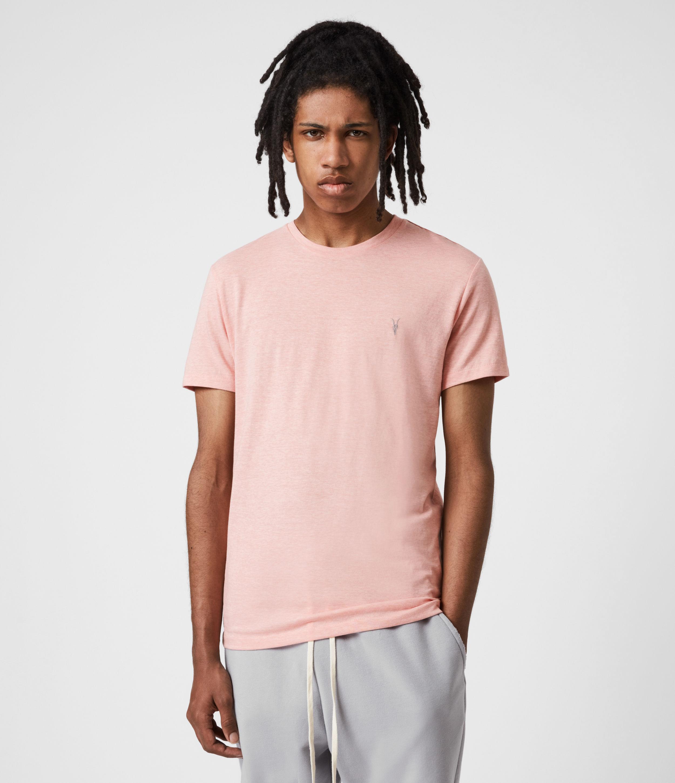 AllSaints Men's Tonic Crew T-Shirt, Panama Pink Marl, Size: XS