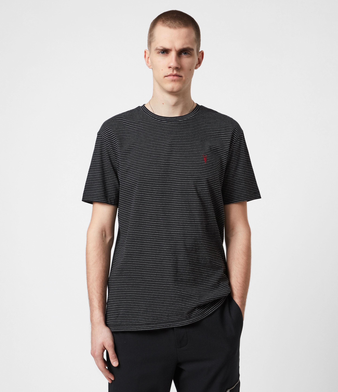 AllSaints Men's Sinclair Crew T-Shirt, Black, Size: S