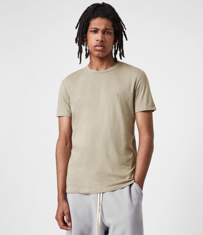 AllSaints Men's Tonic Crew T-Shirt, Jasper Green, Size: XS