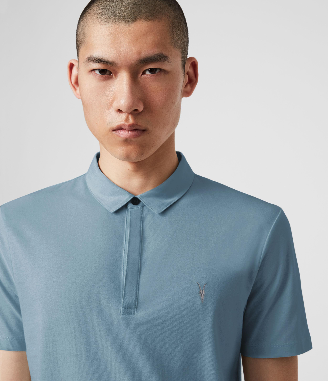 AllSaints Brace Short Sleeve Polo Shirt