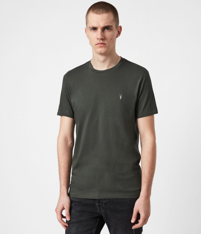 AllSaints Men's Tonic Crew T-Shirt, Sabal Green, Size: XS