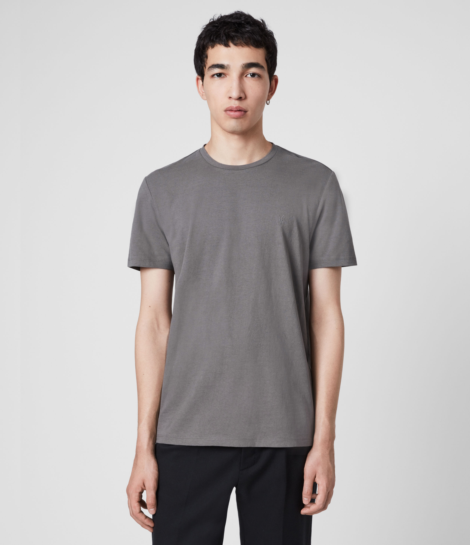AllSaints Men's Cotton Slim Fit Laiden Tonic Crew T-Shirt, Grey, Size: S