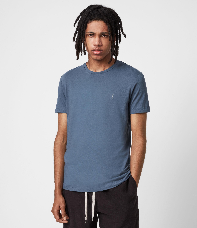 AllSaints Men's Tonic Crew T-Shirt, Misty Blue, Size: L