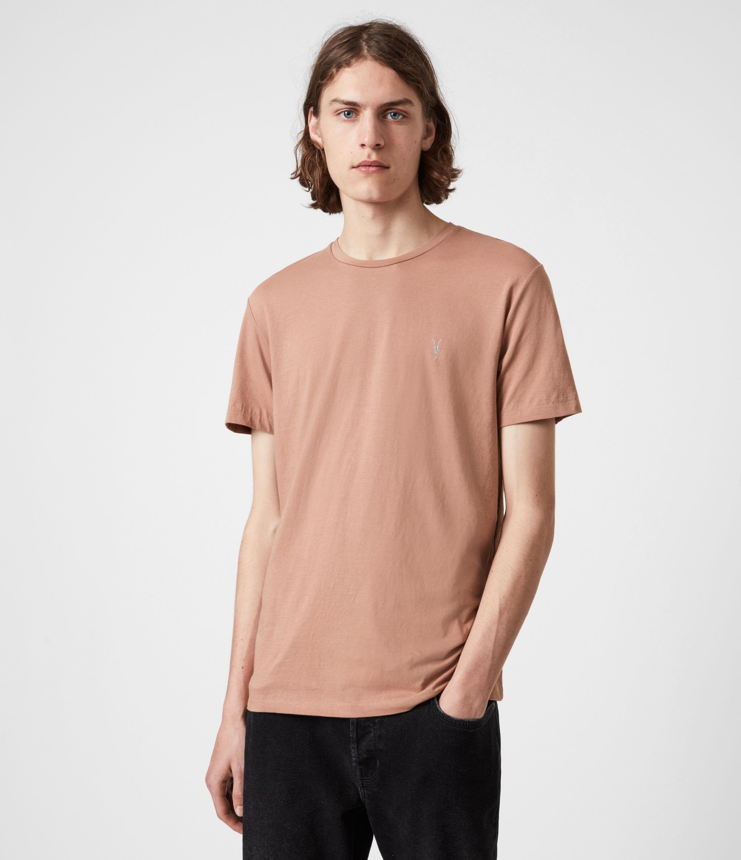 AllSaints Men's Tonic Crew T-Shirt, Bronzed Pink, Size: S