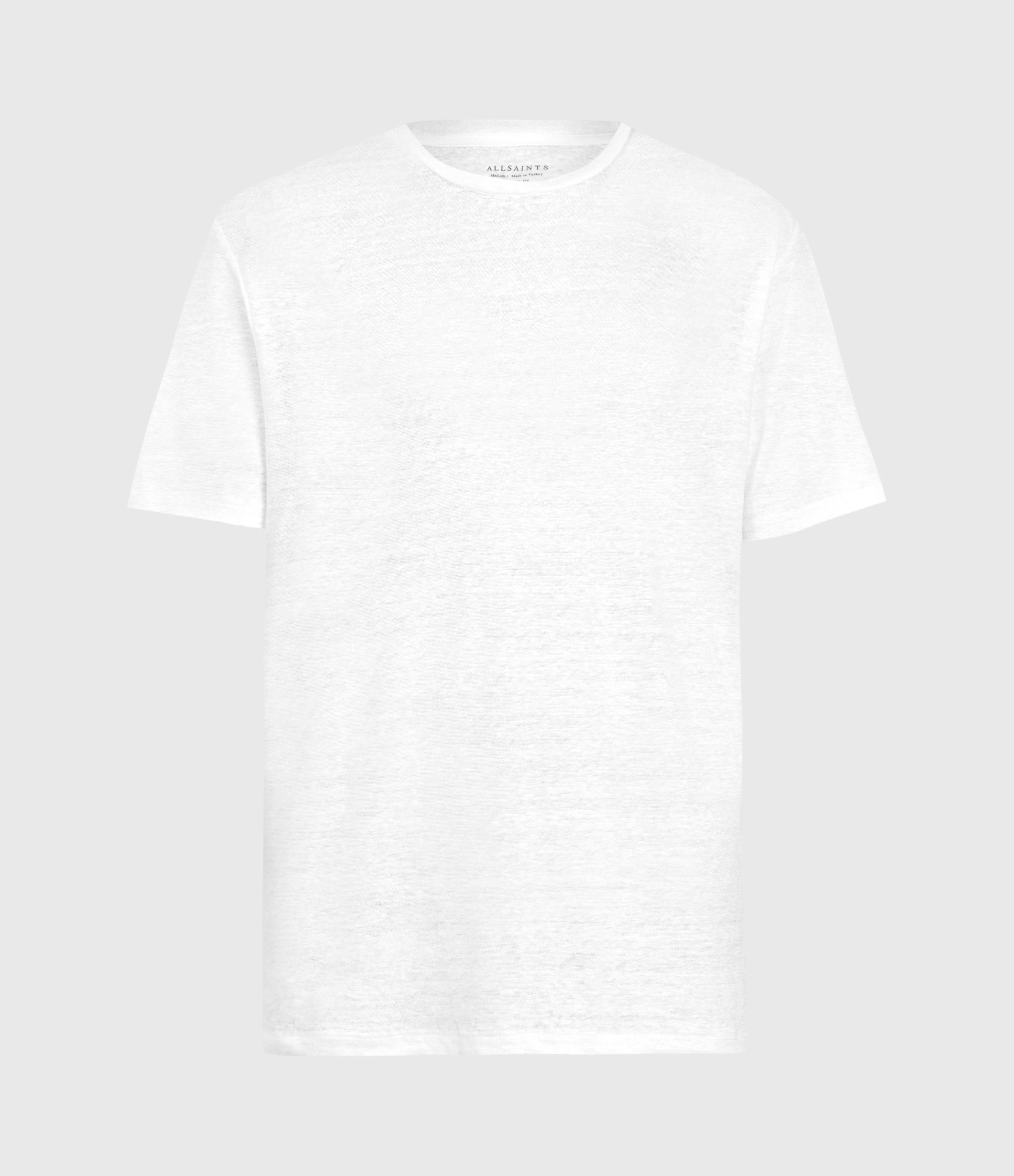 AllSaints Mens Avery Crew T-Shirt, Optic White, Size: L