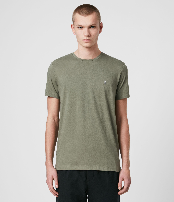 AllSaints Men's Cotton Tonic Crew T-Shirt, Green, Size: S