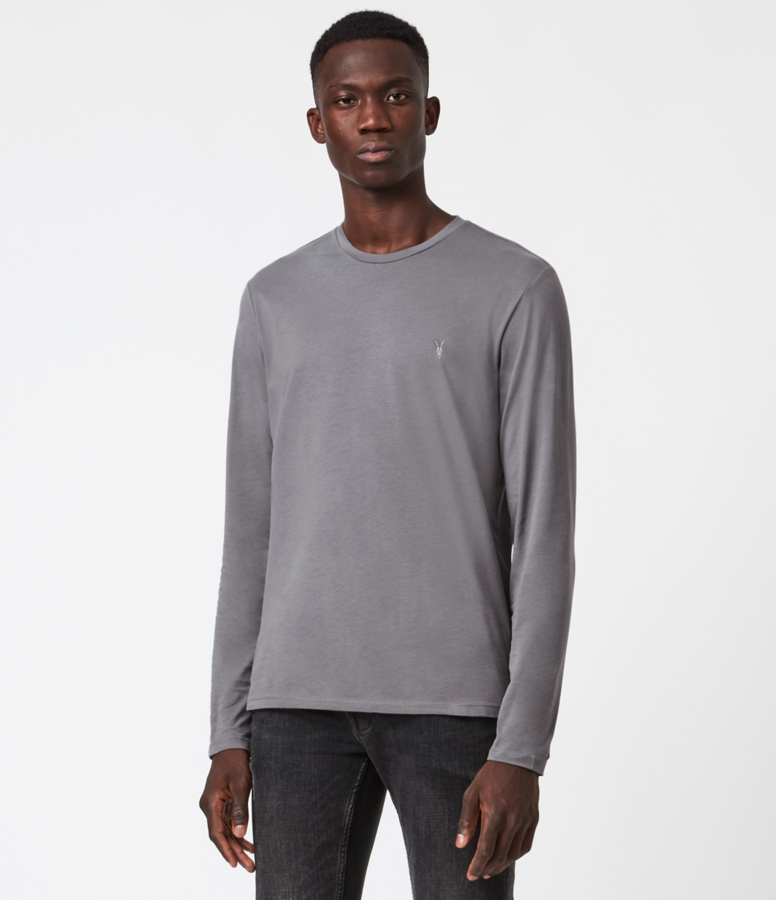 AllSaints Brace Long Sleeve Tonic Crew T-Shirt