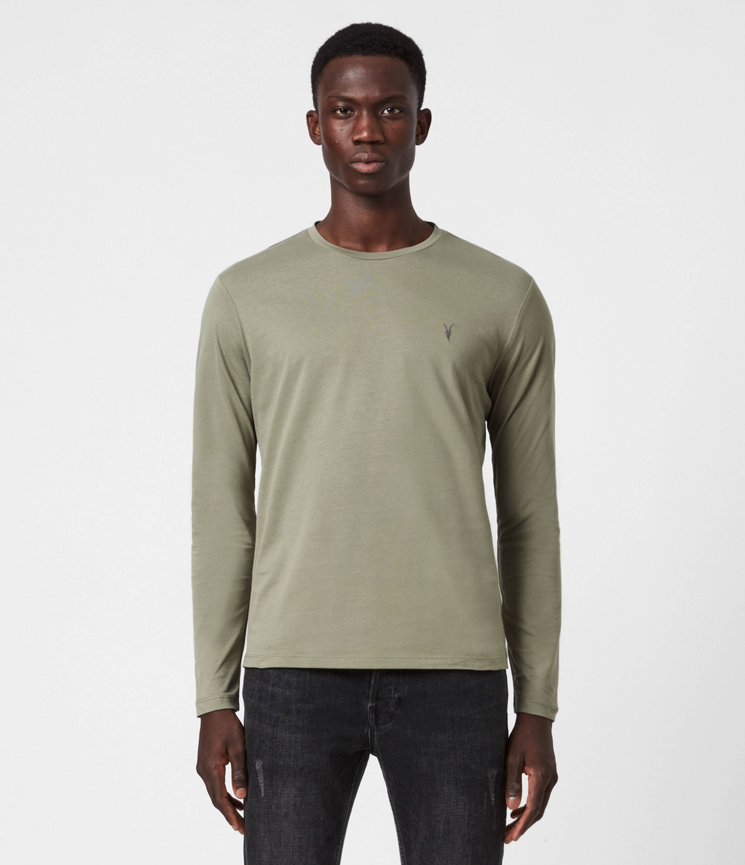 AllSaints Brace Tonic Long Sleeve Crew T-Shirt