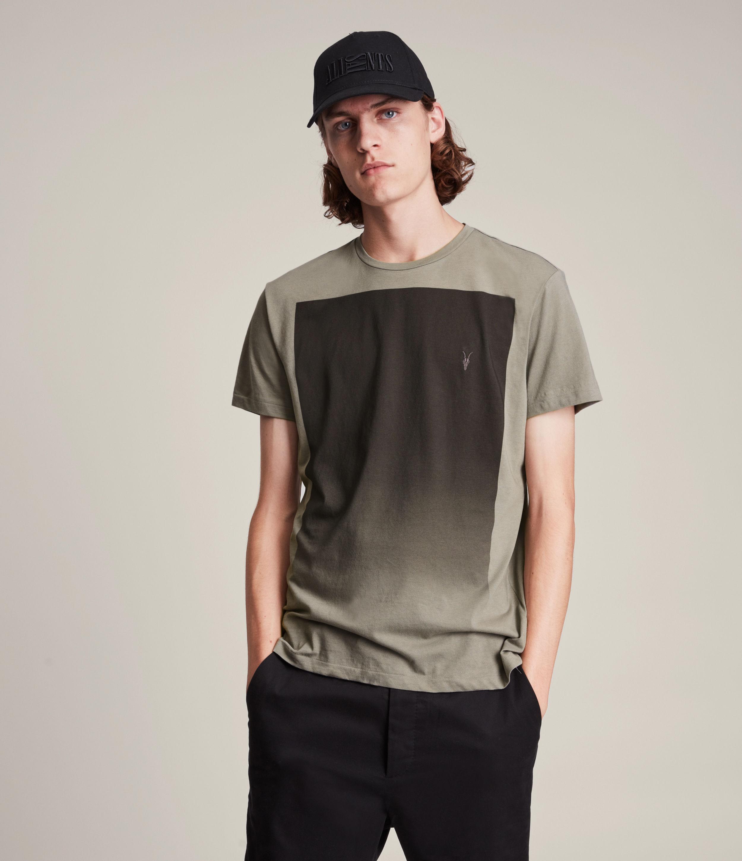 AllSaints Men's Lobke Gradient Crew T-Shirt, Pavillion Grey, Size: S