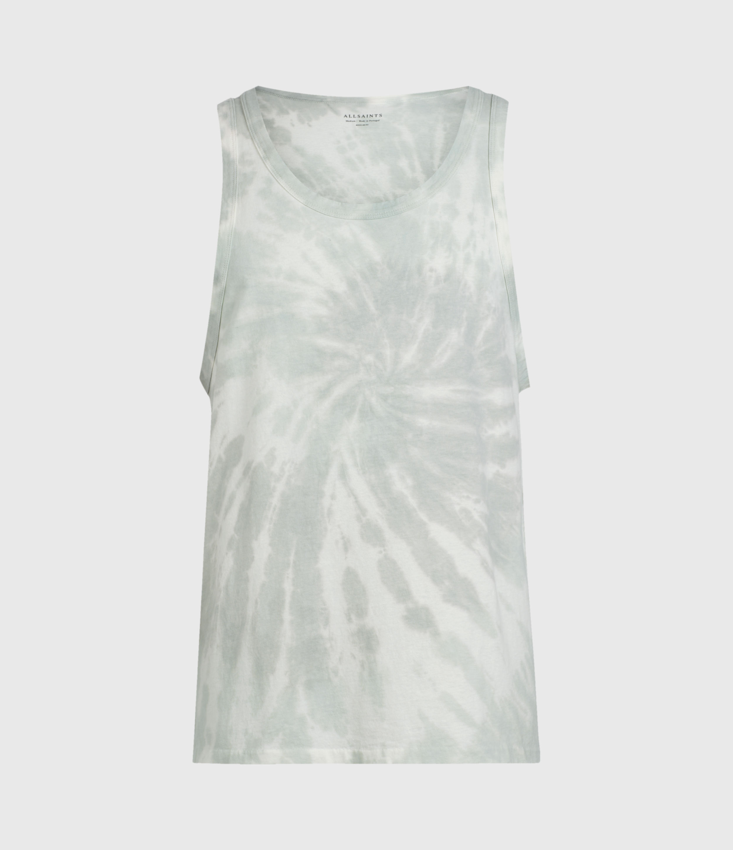 AllSaints Mens Tucker Tie Dye Vest, Light Grey, Size: S