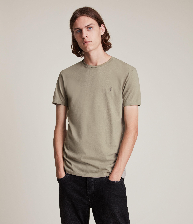 AllSaints Men's Tonic Crew T-Shirt, Pier Grey, Size: L