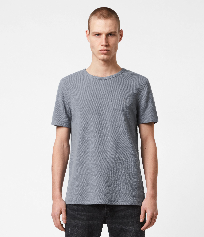 AllSaints Men's Cotton Regular Fit Muse Crew Neck T-Shirt, Grey, Size: S