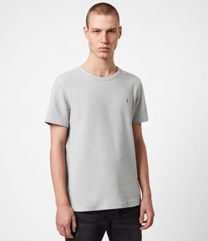 AllSaints Men's Cotton Regular Fit Muse Crew Neck T-Shirt, Grey, Size: XS
