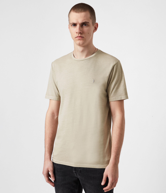 AllSaints Mens Ossage Crew T-Shirt, Pamir Green, Size: S