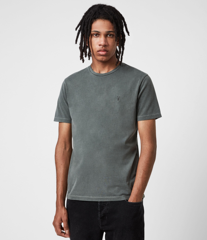 AllSaints Men's Ossage Crew T-Shirt, Sacremento Green, Size: XL