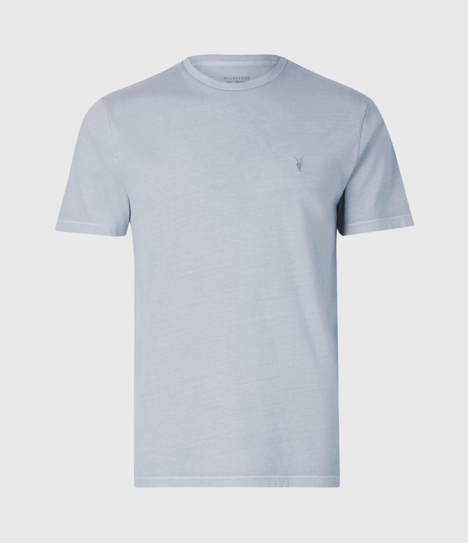 AllSaints Men's Cotton Slim Fit Ossage Crew Neck T-Shirt, Blue, Size: S