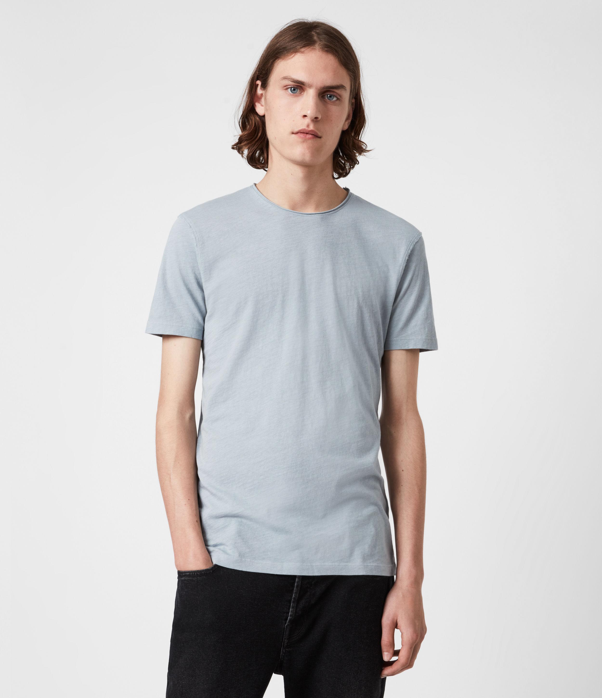 AllSaints Men's Figure Crew T-Shirt, Breezy Blue, Size: L