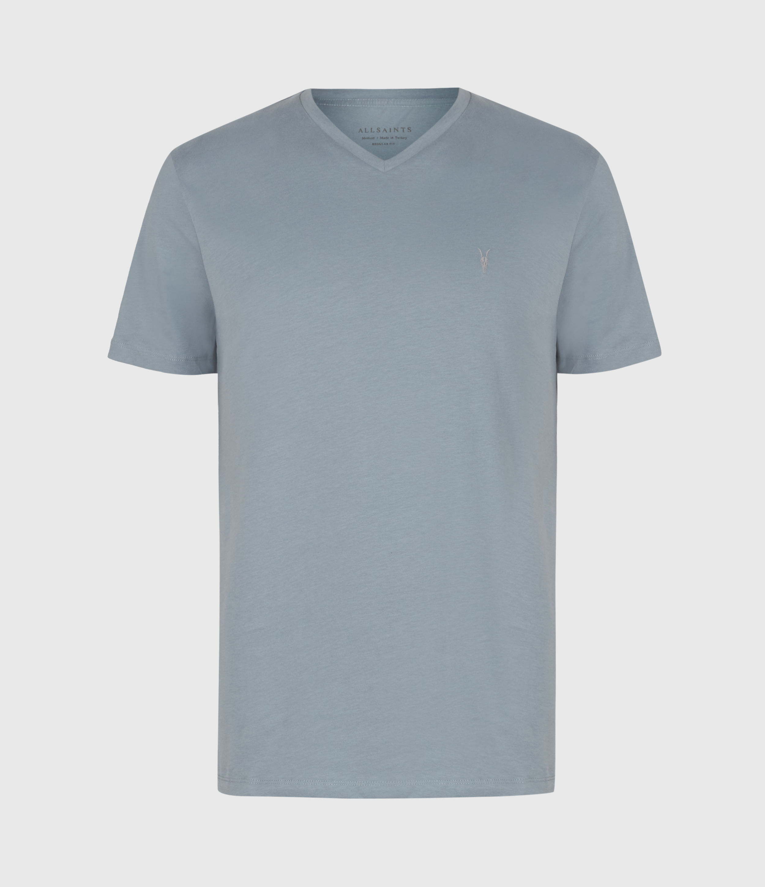 AllSaints Mens Brace V Neck, Force Blue, Size: M